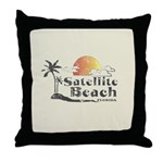 Satellite Beach Throw Pillow
