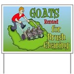 LawnMower Goats Yard Sign