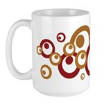 Retro Orange Circles Large Mug