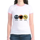 Peace Love Dive Jr. Ringer T-Shirt
