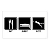 Eat Sleep Dive Rectangle Sticker