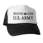 PFC - E3 - Proud of my soldier Trucker Hat