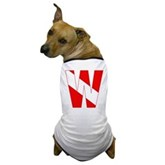 Scuba Flag Letter W Dog T-Shirt