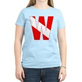 Scuba Flag Letter W Women's Light T-Shirt