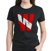 Scuba Flag Letter W Women's Dark T-Shirt