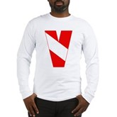 Scuba Flag Letter V Long Sleeve T-Shirt