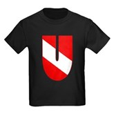 Scuba Flag Letter U Kids Dark T-Shirt