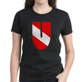 Scuba Flag Letter U Women's Dark T-Shirt