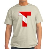 Scuba Flag Letter T Light T-Shirt