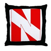 Scuba Flag Letter N Throw Pillow