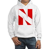 Scuba Flag Letter N Hooded Sweatshirt