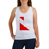 Scuba Flag Letter L Women's Tank Top