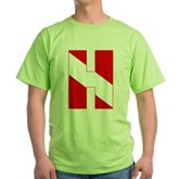 Scuba Flag Letter H Green T-Shirt