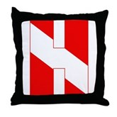 Scuba Flag Letter H Throw Pillow