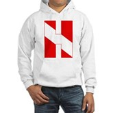 Scuba Flag Letter H Hooded Sweatshirt
