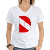 Scuba Flag Letter D Women's V-Neck T-Shirt