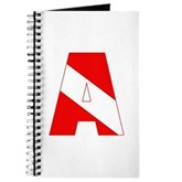 Scuba Flag Letter A Journal