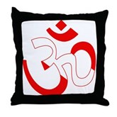 Scuba Flag Om / Aum Throw Pillow