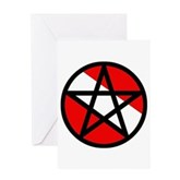 Scuba Flag Pentagram Greeting Card