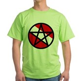 Scuba Flag Pentagram Green T-Shirt