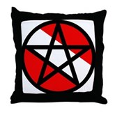 Scuba Flag Pentagram Throw Pillow