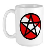 Scuba Flag Pentagram Large Mug