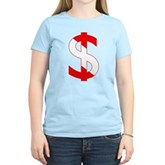 Scuba Flag Dollar Sign Women's Light T-Shirt