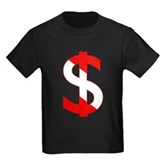 Scuba Flag Dollar Sign Kids Dark T-Shirt