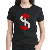 Scuba Flag Dollar Sign Women's Dark T-Shirt