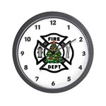 Fire Dept Xmas Wall Clock