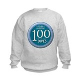 100 Dives Milestone Kids Sweatshirt