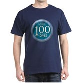 100 Dives Milestone Dark T-Shirt
