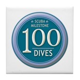 100 Dives Milestone Tile Coaster