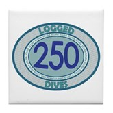 250 Logged Dives Tile Coaster