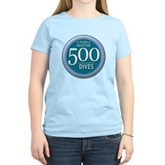 500 Dives Milestone Women's Light T-Shirt