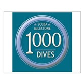 1000 Dives Milestone Small Poster