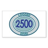 2500 Logged Dives Rectangle Sticker
