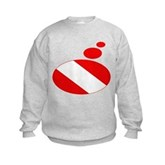 Thought Bubble Dive Flag Kids Sweatshirt