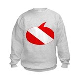 Text Bubble Dive Flag Kids Sweatshirt