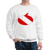 Text Bubble Dive Flag Sweatshirt