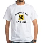 1-91 Cavalry White T-Shirt