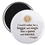 """Elizabeth Marriage Quote 2.25"""" Magnet (100 pack)"""