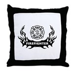 Fire Dept Tattoos Throw Pillow