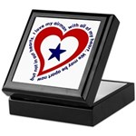 Heart service Flag - Airman Keepsake Box