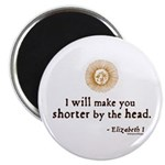 "Elizabeth Beheading Quote 2.25"" Magnet (100 pack)"