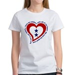 2 Star Service Flag - Soldiers Women's T-Shirt