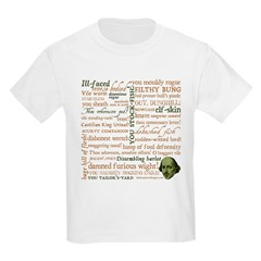 Shakespeare Insults T-shirts & Gifts Kids Light T-Shirt