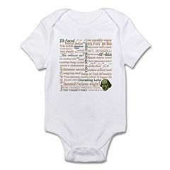 Shakespeare Insults T-shirts & Gifts Infant Bodysuit