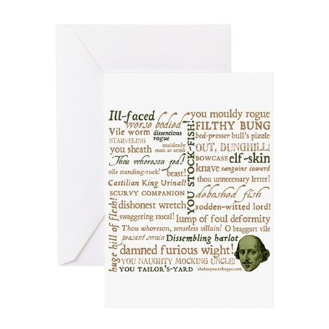 Shakespeare Insults Greeting Card