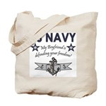 Navy Boyfriend Defending Free Tote Bag